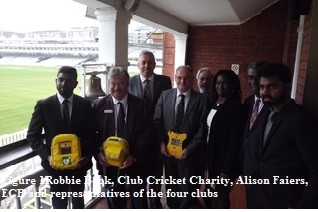 Charity defibrillator scheme touches clubs at Lord's ceremony